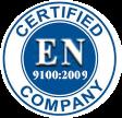 CMC is Certified EN 9100:2009